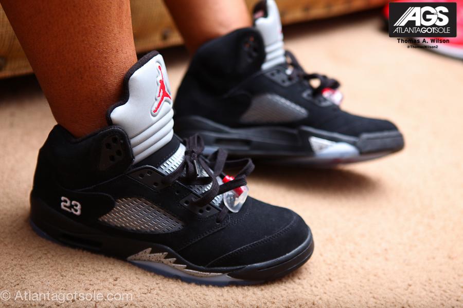 detailed look fb3f4 8dee2 Air Jordan 5 Black/Metallic Silver – New Pics   FLYY WITH 2 Y's
